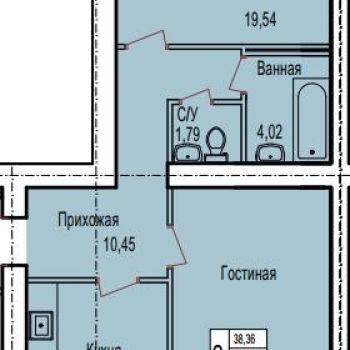 ЖК по ул. Поле Свободы (Калуга) – планировка №1