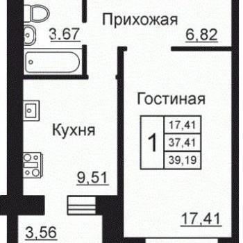 ЖК Изумрудная долина (Калуга) – планировка №1