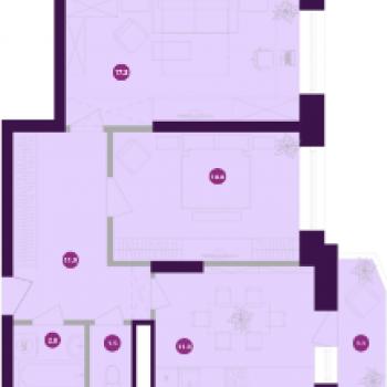 ЖК Мельница (Калуга) – планировка №3
