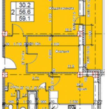 ЖК Авеню-40 (Калуга) – планировка №3