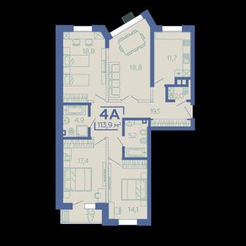 ЖК Z House (Казань) – планировка №12