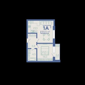 ЖК Z House (Казань) – планировка №3