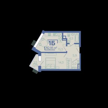 ЖК Z House (Казань) – планировка №2