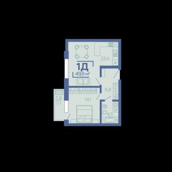 ЖК Z House (Казань) – планировка №1