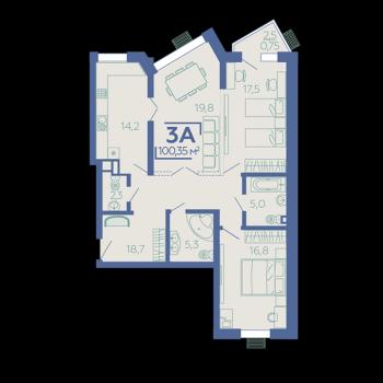 ЖК Z House (Казань) – планировка №11