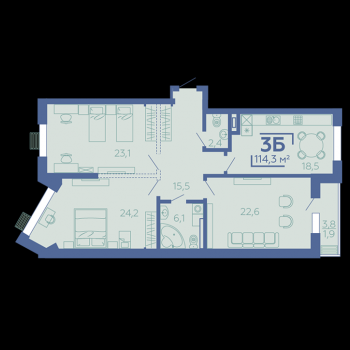 ЖК Z House (Казань) – планировка №10