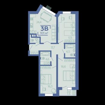 ЖК Z House (Казань) – планировка №9