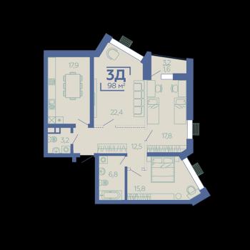 ЖК Z House (Казань) – планировка №8