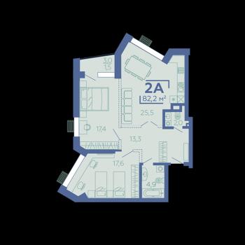 ЖК Z House (Казань) – планировка №6