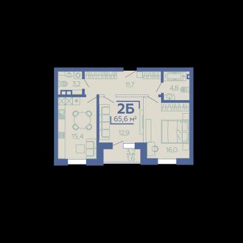ЖК Z House (Казань) – планировка №5