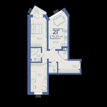ЖК Z House (Казань) – планировка №4