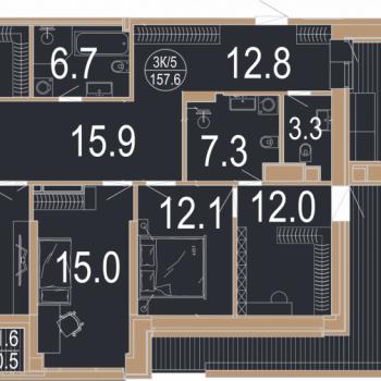 ЖК Архитектор (Казань) – планировка №12