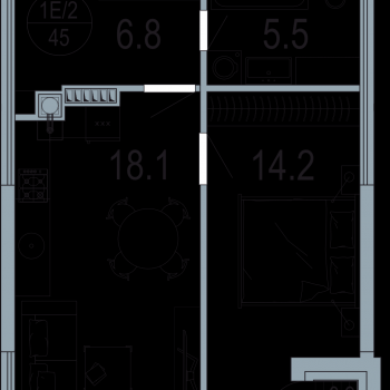 ЖК Архитектор (Казань) – планировка №2
