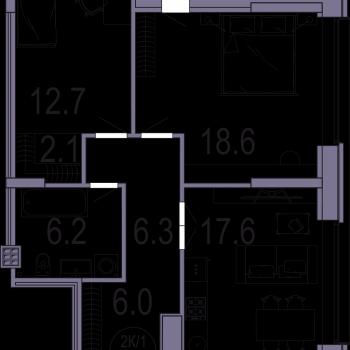 ЖК Архитектор (Казань) – планировка №7