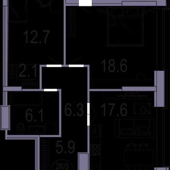 ЖК Архитектор (Казань) – планировка №5