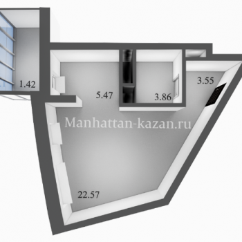 ЖК Манхэттен (Казань) – планировка №2