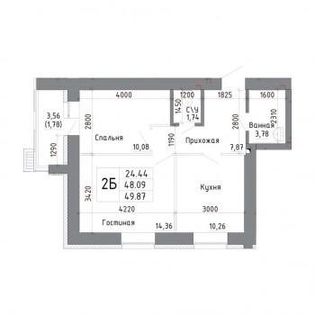 ЖК Дом на Максимова (Казань) – планировка №6