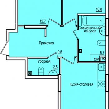 ЖК Комос на Губкина (Казань) – планировка №6