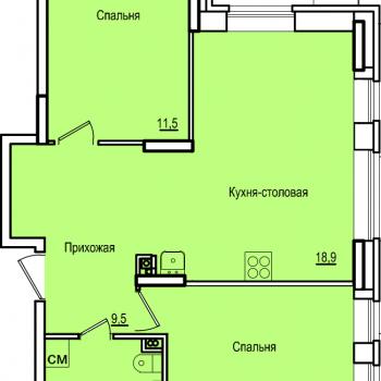 ЖК Комос на Губкина (Казань) – планировка №5