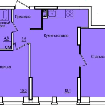 ЖК Комос на Губкина (Казань) – планировка №4
