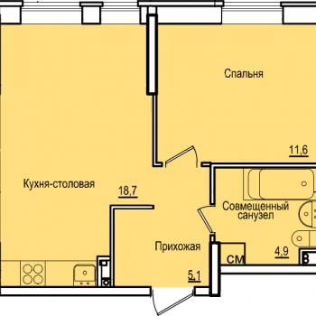 ЖК Комос на Губкина (Казань) – планировка №3