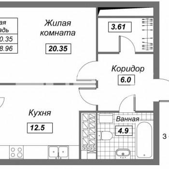 ЖК Авалон Сити (Казань) – планировка №6