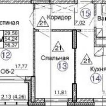 ЖК Комсомолец (Казань) – планировка №3