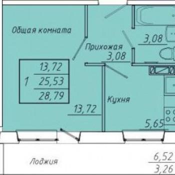 ЖК Семейный (Кемерово) – планировка №3