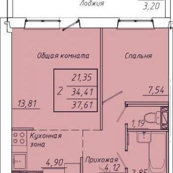 ЖК Семейный (Кемерово) – планировка №4