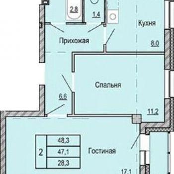 ЖК Томь (Кемерово) – планировка №4