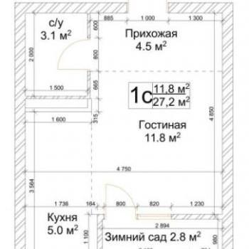 ЖК Квартал Дружбы (Кемерово) – планировка №3