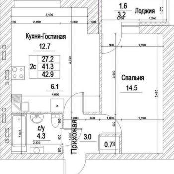 ЖК Квартал Дружбы (Кемерово) – планировка №2