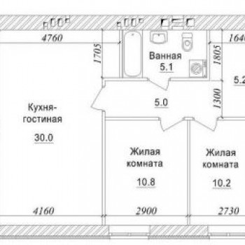 ЖК Бульвар Осенний (Кемерово) – планировка №1