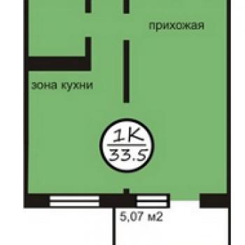 ЖК Северная звезда (Кемерово) – планировка №3