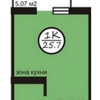 ЖК Северная звезда (Кемерово) – планировка №2