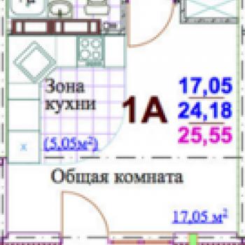 ЖК Яркий (Кемерово) – планировка №1