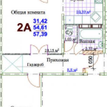 ЖК Яркий (Кемерово) – планировка №2