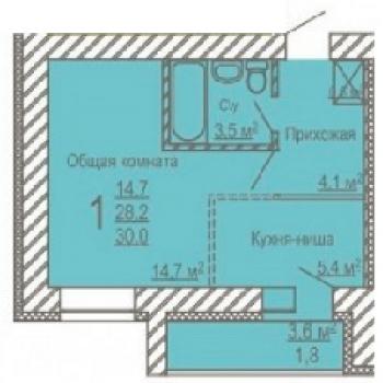 ЖК Московский проспект (Кемерово) – планировка №1