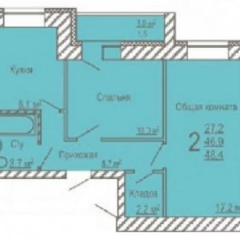 ЖК Московский проспект (Кемерово) – планировка №3