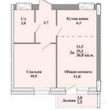ЖК Старт (Кемерово) – планировка №2