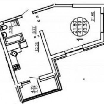 ЖК Пионерский (Хабаровск) – планировка №1