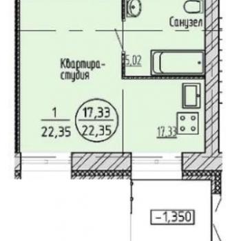 ЖК Суворов (Хабаровск) – планировка №4