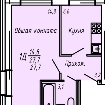 ЖК Слобода Никольская (Киров) – планировка №1
