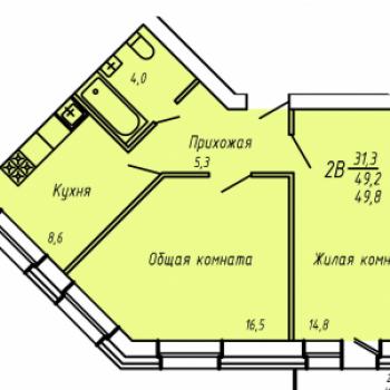 ЖК Слобода Никольская (Киров) – планировка №3