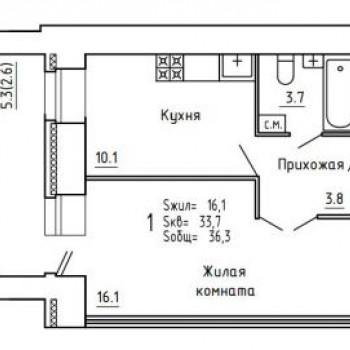 ЖК Союз (Киров) – планировка №4