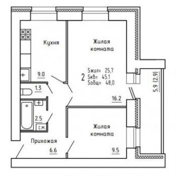 ЖК Союз (Киров) – планировка №3