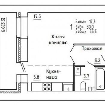 ЖК Союз (Киров) – планировка №2