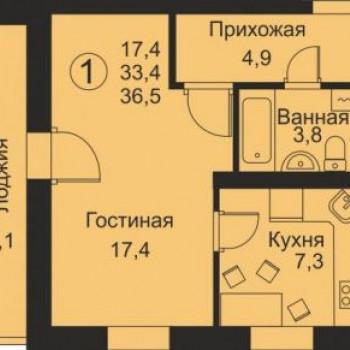 ЖК Флагман (Киров) – планировка №1