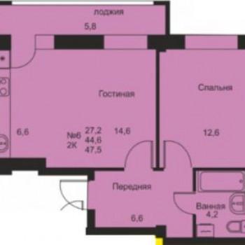 ЖК Флагман (Киров) – планировка №2