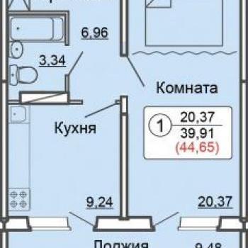 ЖК Метро (Киров) – планировка №3